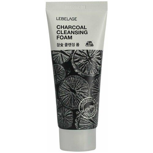 Фото - Lebelage пенка для умывания с древесным углем Charcoal Pore Clay Cleansing Foam, 100 мл глиняная маска пенка для лица с древесным углем charcoal mud pack to foam 7 3мл