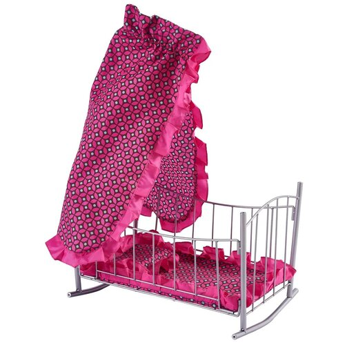 Фото - Buggy Boom Кроватка-качалка для кукол Loona (8889) темно-розовый с узором коляски для кукол buggy boom инфиниа 8459 2 в 1