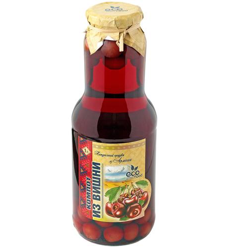 Компот Ecofood Armenia из вишни, стеклянная бутылка, 1 л