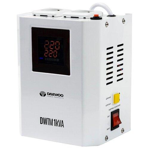 Стабилизатор напряжения однофазный Daewoo Power Products DW-TM1kVA (1 кВт) белый