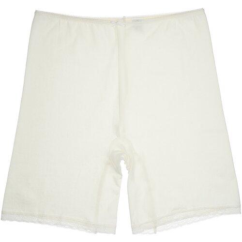 MiNiMi Трусы панталоны с завышенной талией, размер 50/XL, слоновая кость (avorio)