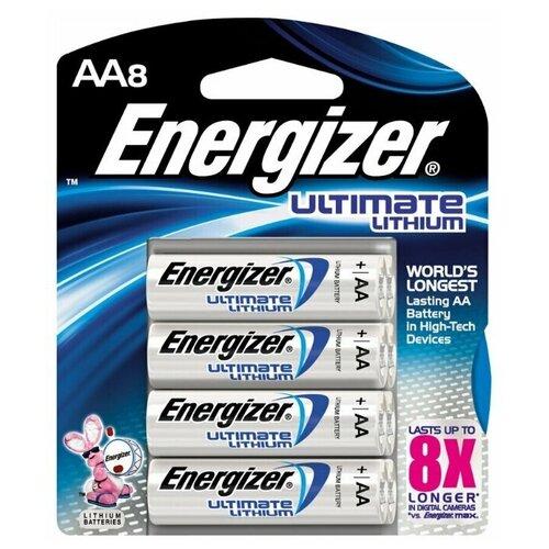 Фото - Батарейки литиевые AA LR6 ENERGIZER LITHIUM 8 шт батарейка energizer ultimate lithium aa 4 шт