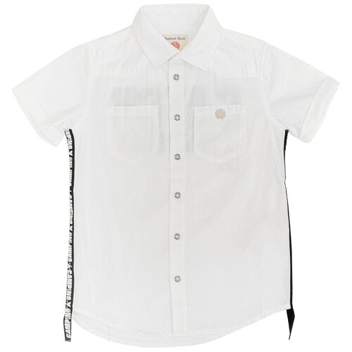 Рубашка Button Blue размер 110, белый