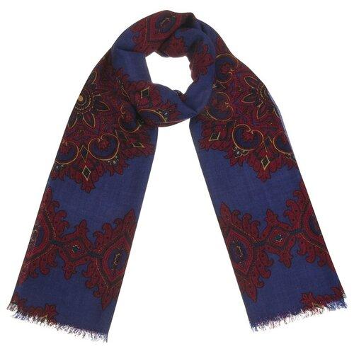 Шарф Dr.Koffer S810595 100% шерсть синий / коричневый