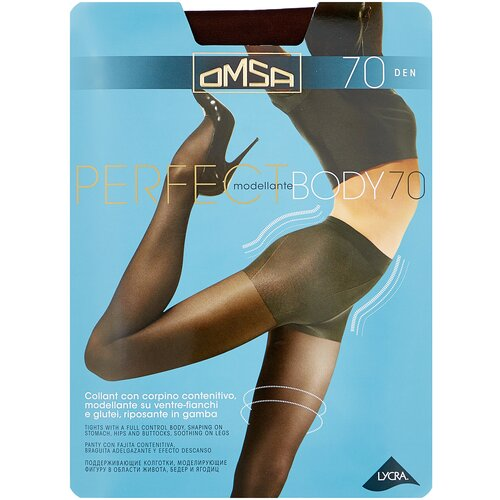Колготки Omsa Perfect Body, 70 den, размер 2-S, marrone (коричневый) колготки omsa attiva 20 den размер 2 s marrone коричневый
