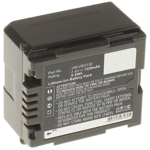 Аккумулятор iBatt iB-B1-F320 1320mAh для Panasonic VW-VBG6, VW-VBG260, VW-VBG070A, VW-VBG130, VW-VBG070, VW-VBG260E-K, VW-VBG260-K, VW-VBG130E-K,