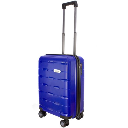 Фото - Чемодан PROFFI Tour Fashion S 36 л, синий чемодан proffi travel tour fashion 24 pp пластиковый средний 64 5х47х27 желтый
