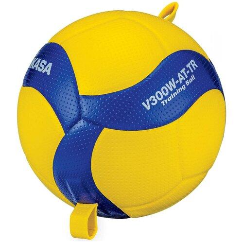Волейбольный мяч Mikasa V300W-AT-TR желтый/синий