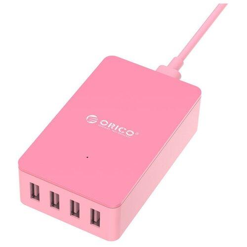 Фото - Сетевая зарядка ORICO CSE-4U, розовый сетевая зарядка orico cse 4u черный