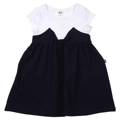 Платье Mini Maxi размер 104, белый/синий платье modis размер 104 белый