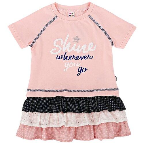 Фото - Платье Mini Maxi размер 116, кремовый/розовый рубашка fendi размер 116 кремовый