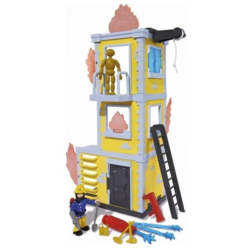 Фото - Большая тренировочная пожарный СЭМ база с фигуркой, 42см 9251053 гидроцикл dickie toys пожарный сэм джуно с фигуркой и аксессуарами 9251662 красный желтый