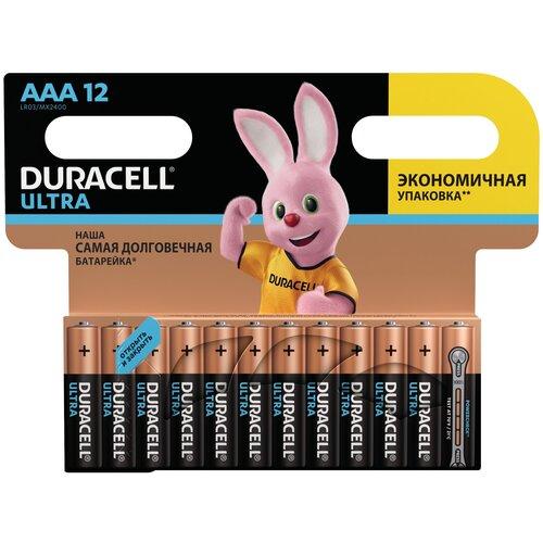 Фото - Батарейка Duracell Ultra Power AAA/LR03, 12 шт. батарея duracell ultra power lr03 4bl aaa 4шт