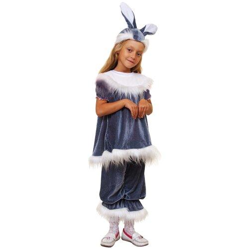 Костюм Маскарад у Алисы Зайчиха, серый, размер 32(128) костюм маскарад у алисы восточный принц коричневый размер 32 128