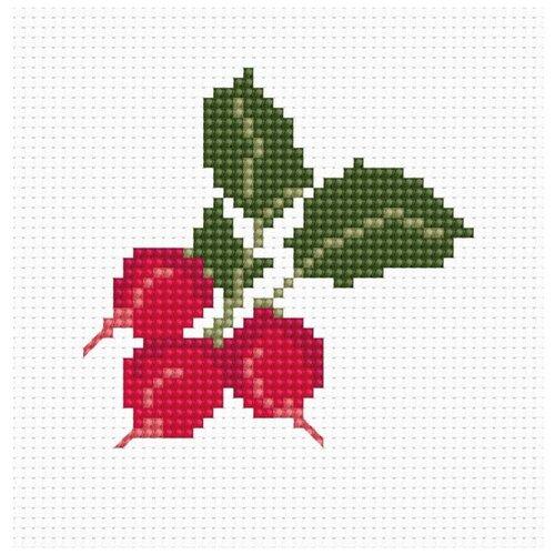 Купить Набор для вышивания «Редиски», 7x7 см, Luca-S, Наборы для вышивания