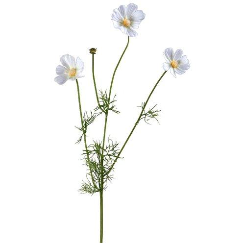 Искусственный цветок Космея Элегант белая 67 см pablo de gerard darel белая блузка с рельефной отделкой