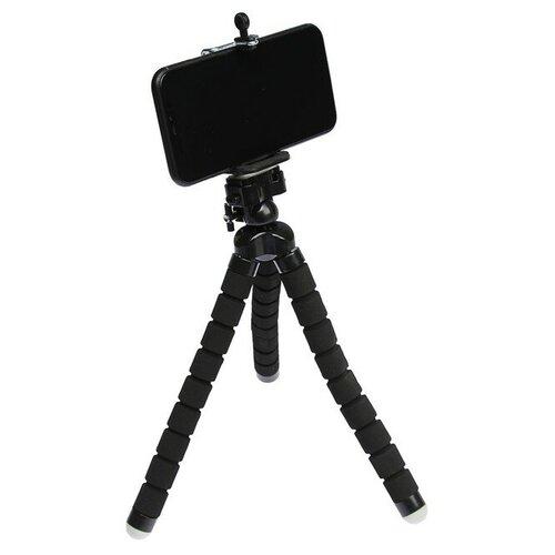 Штатив LuazON настольный для телефона гибкие ножки 26 см чёрный 4364239