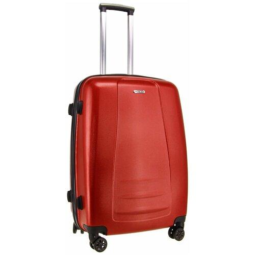 Чемодан Rion+ 418/3 62 л, бордовый металлик чемодан rion 418 3 62 л голубой