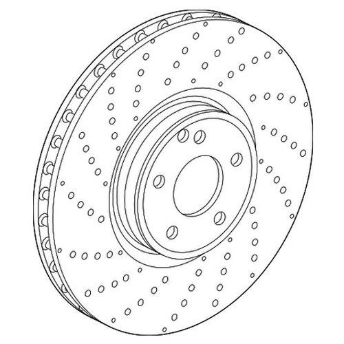Диск тормозной (Производитель: Mercedes A2224212612)