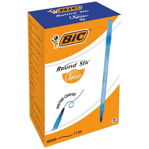 BIC Набор шариковых ручек Round Stic Classic, 0.32 мм, 60 шт. (921403/920568), 921403, синий цвет чернил