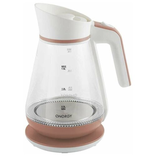 Чайник Energy E-297 белый/коралловый