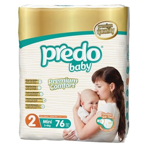 Predo Baby подгузники 2 (3-6 кг), 76 шт.
