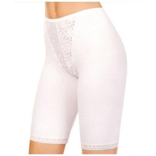 Innamore Трусы панталоны Cedro высокой посадки с кружевными вставками, размер 5(48), bianco