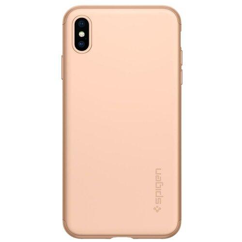 Чехол-накладка Spigen Thin Fit 360 (065CS2) для Apple iPhone Xs Max blush gold
