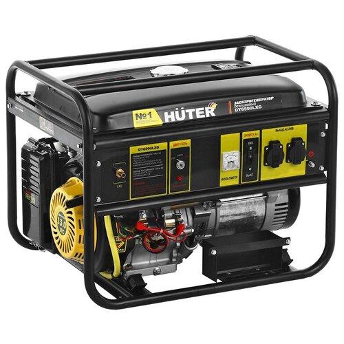 Газо-бензиновый генератор Huter DY6500LXG (5000 Вт) бензиновый генератор huter dy6500lx 5000 вт