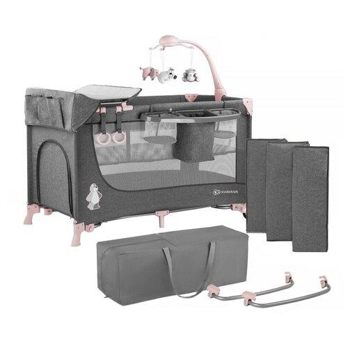 стул kinderkraft pini white kkkpiniwht0000 Манеж-кровать Kinderkraft JOY + аксессуары pink