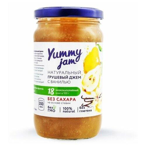 Фото - Джем Yummy jam натуральный грушевый с ванилью без сахара, банка 350 г джем yummy яблоко корица без сахара 350 г