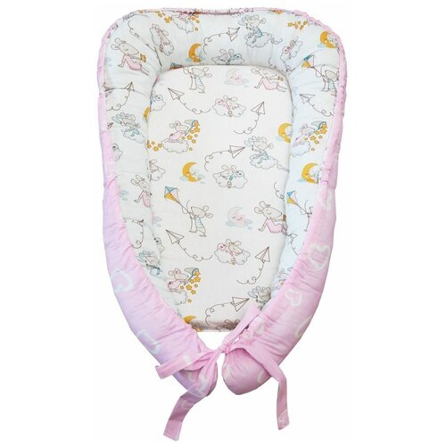 позиционеры для сна amarobaby подушка позиционер для сна little baby мышата в облаках Позиционер для сна Amarobaby Little Baby Мышата в облаках