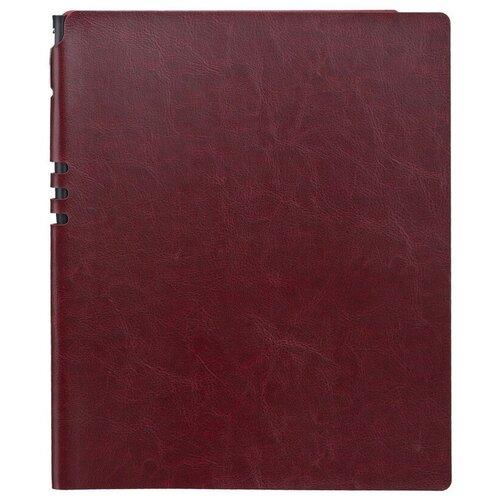 Бизнес-тетрадь Attache Light Book А4 96л, клетка, кожзам бордо