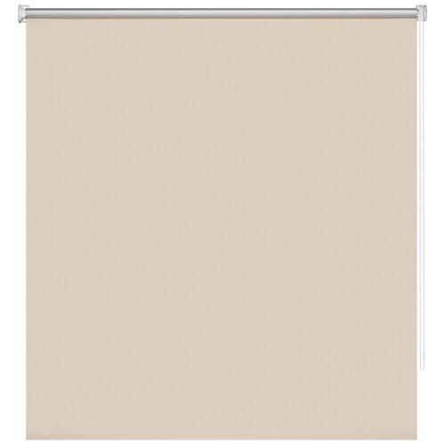 штора рулонная плайн 80х175 см кремовый Рулонная штора DECOFEST Блэкаут Плайн (кремовый бисквит), 160х160 см