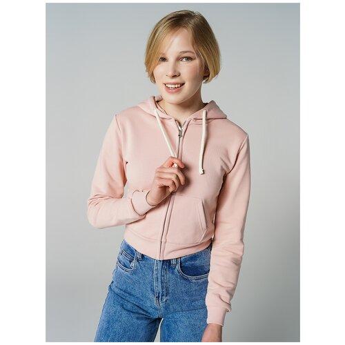 Толстовка на молн с капюш ТВОЕ 80974 размер S, светло-розовый, WOMEN