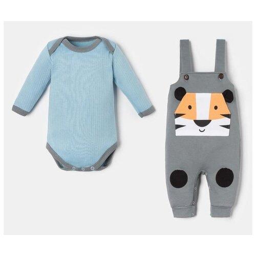 Фото - Комплект одежды Крошка Я размер 62-68, голубой/серый комплект одежды leader kids размер 68 голубой