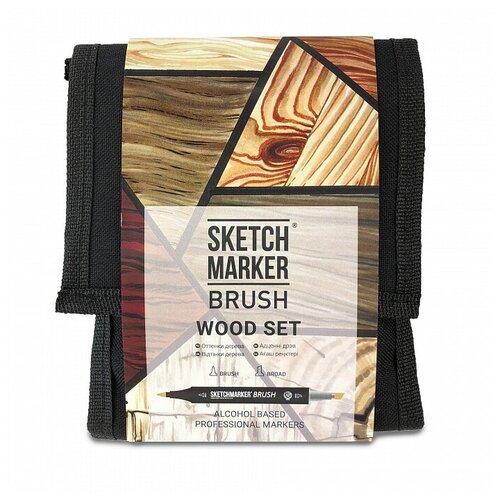 Фото - SketchMarker Набор маркеров Brush Wood Set, 12 шт. sketchmarker набор маркеров brush oriental style set 48 шт