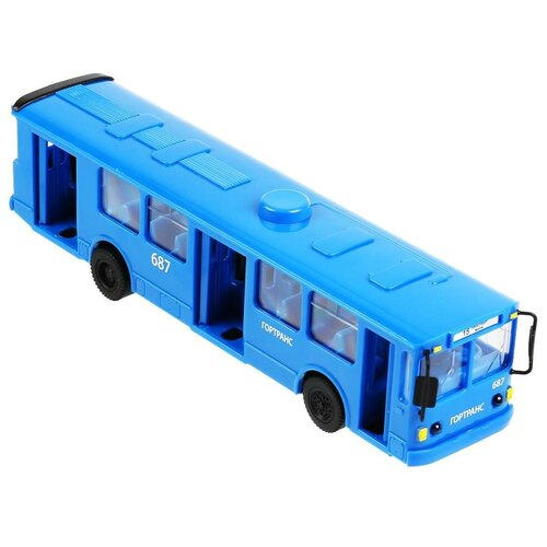 Фото - Автобус ТЕХНОПАРК SB-18-38-BU-OB, 31 см, синий автобус технопарк рейсовый sb 16 88 blc 7 5 см желтый