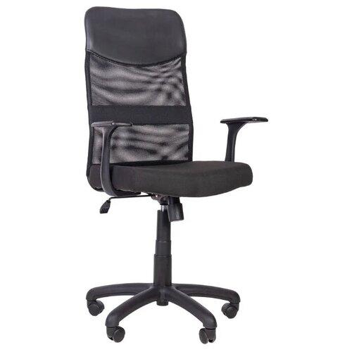 Компьютерное кресло Русские Кресла РК-160 ТОП для руководителя, обивка: текстиль/искусственная кожа, цвет: черный