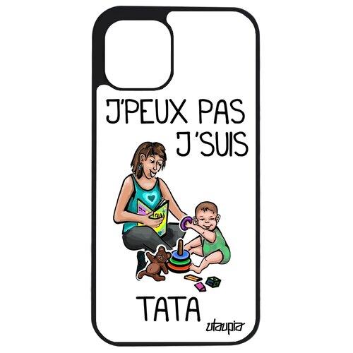 """Чехол для телефонов Apple iPhone 12, """"Не могу - стала тетей!"""" Карикатура Комикс"""