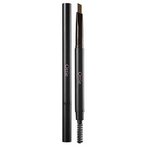 Фото - Ottie карандаш для бровей Natural Drawing Eye Brow Pencil, оттенок #02 Dark Brown landa branda карандаш automatic eye brow pencil оттенок blond