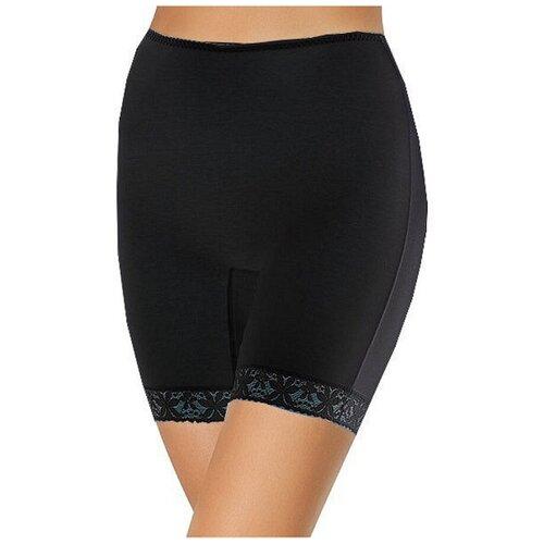 Intri Трусы панталоны высокой посадки с кружевом, размер 118(56), черный