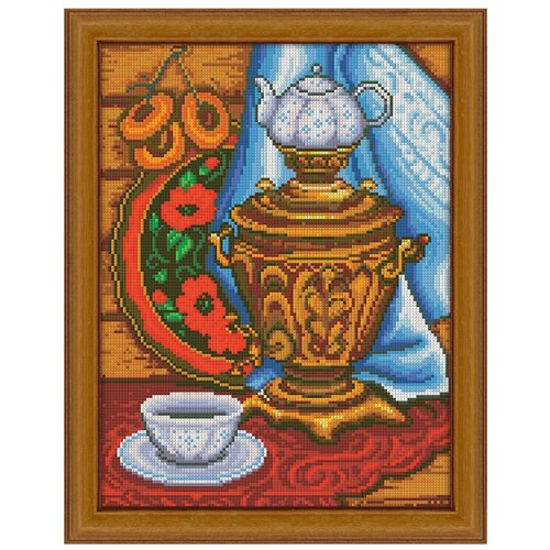 Алмазная живопись Набор алмазной вышивки Русское чаепитие (АЖ-1327) 30х40 см