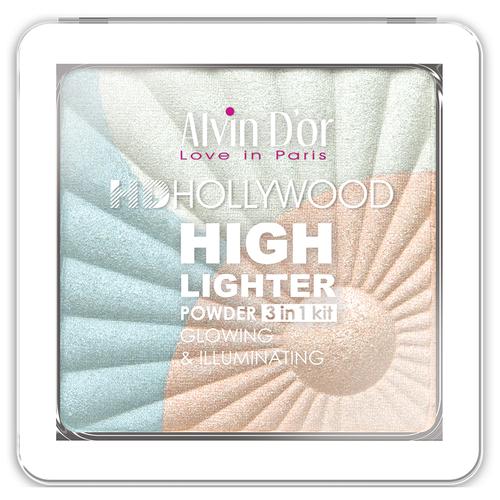 Купить Alvin D'or Хайлайтер Hd Hollywood Glow Illuminating 3 in 1 kit тон 01