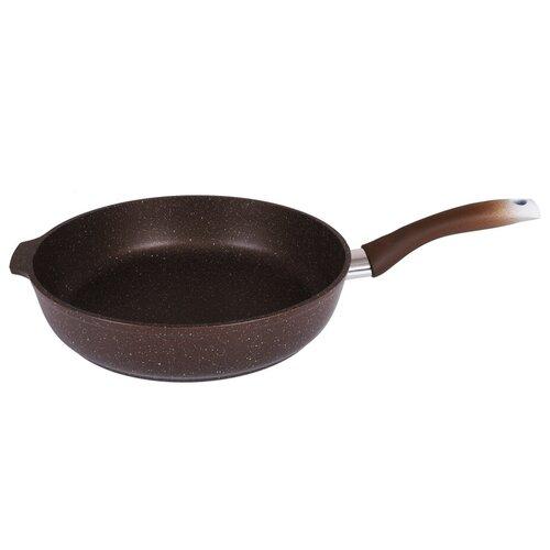 Сковорода Kukmara Мраморная 281а, 28 см, черный сковорода d 24 см kukmara кофейный мрамор смки240а
