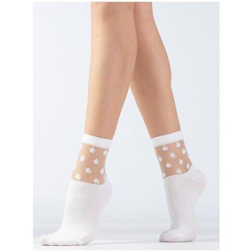 Носки Giulia WS2 CRYSTAL 006 размер 36-38, bianco (Белый)