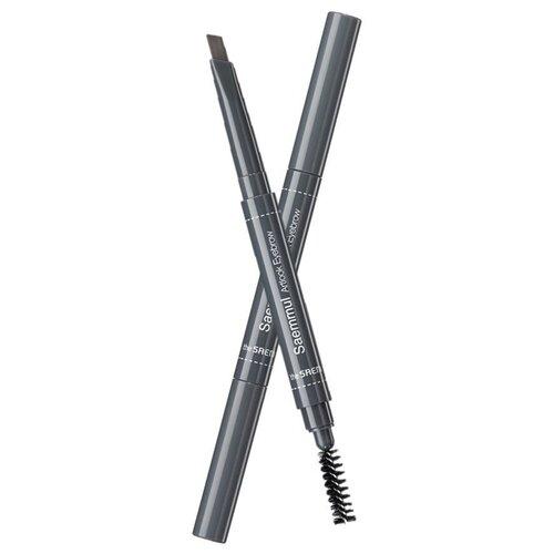 Купить The Saem карандаш для бровей Saemmul Artlook Eyebrow, оттенок 02 deep brown