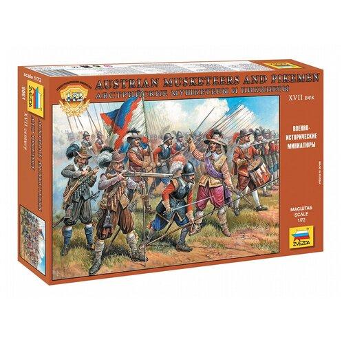 Сборная модель ZVEZDA Австрийские мушкетеры и пикинеры XVII века (8061) 1:72