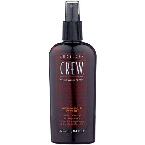 American Crew спрей-гель для укладки Medium Hold Spray Gel, 250 мл australian gold спрей гель spf 15 spray gel bronzer 237 мл