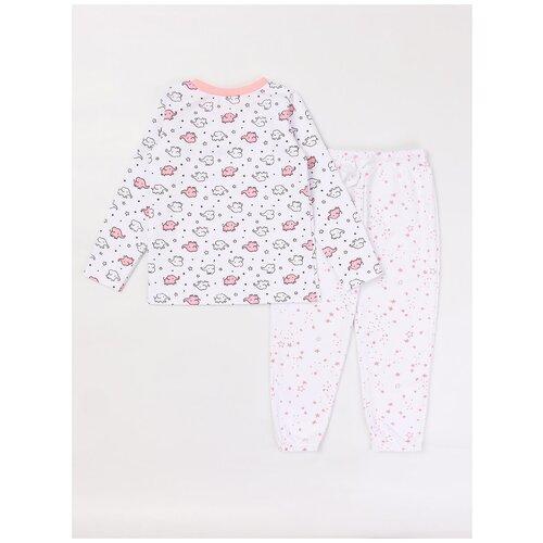 Пижама: Джемпер, брюки КотМарКот, 2691229 (размер 86, цвет Белый) пижама double trouble белый оранжевый 86 размер
